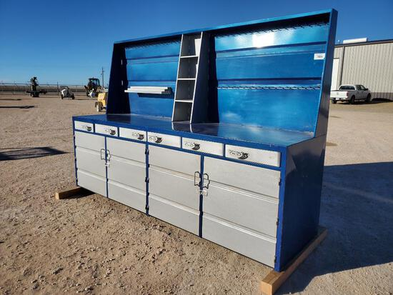Shop Work Bench With 6 Drawers And 4 Cabinets