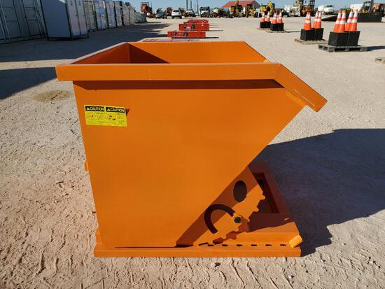 Unused Greatbear (1CY) Self Dumping Hopper, Hopper has Forklift Pockets