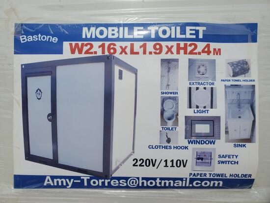 Unused Bastone 110v Portable Toilets with Shower