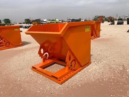 Unused Greatbear (1CY) Self Dumping Hopper, Hopper has Forklift Pockets