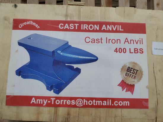 Unused Cast Iron Anvil