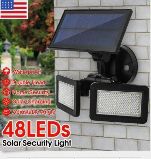 48 LED Dual Head Solar Wall Light