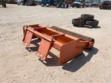 Box Blade with Roller Skid Steer Attachment