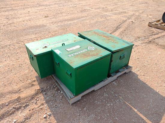 (3) Greenlee Job Storage/Tool Box