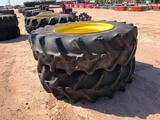 (2) Tractor Wheels/Tires 20.8 R 42