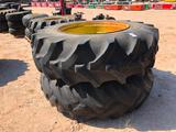 (2) Tractor Wheels/Tires 20.8 R 38