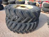 (2) Tractor Wheels & Tires 20.8 R 42