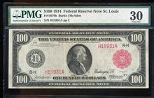 1914 $100 Federal Reserve Red Seal Note St. Louis