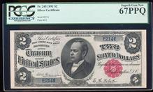 1891 $2 Windom Silver Certificate Note Fr.245