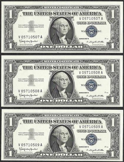 Lot of (3) Consecutive 1957B $... Auctions Online | Proxibid