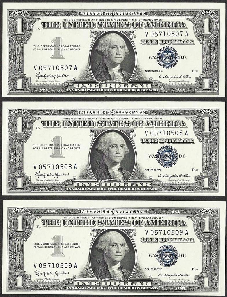 Lot Of 3 Consecutive 1957b Auctions Online Proxibid
