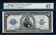 1923 $5 Porthole Silver Certificate Note Fr.282