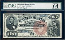 1880 $100 Legal Tender Note Fr.172 PMG Choice