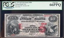1875 $10 The First NB of Newark, OH CH# 858