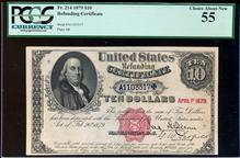 1879 $10 Refunding Certificate Fr.214 PCGS Choice
