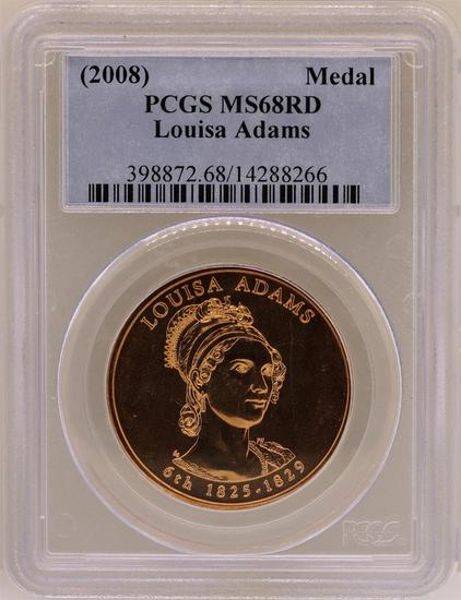 2008 Louisa Adams Medal PCGS MS68RD