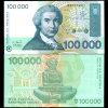 2003 Croatia 100000 Dinara Note GEM Crisp Unc