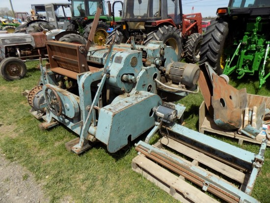 Whitney Lg. H.D. Wood Planer w/ Accessories, Model 24, 30'' Size, S/N 13470