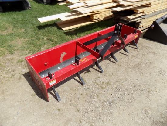 New LMC 8' 3Pth Box Scraper Blade Red