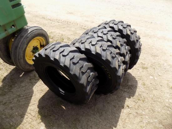 Set of (4) New 10-16.5 Skid Steer Tires (4x Bid Price)