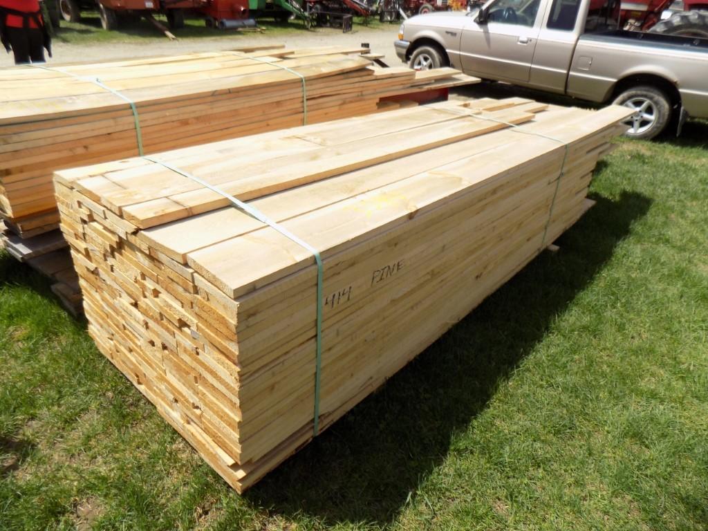 Lg. Group Of Rough Cut Lumber, Pine 4/4