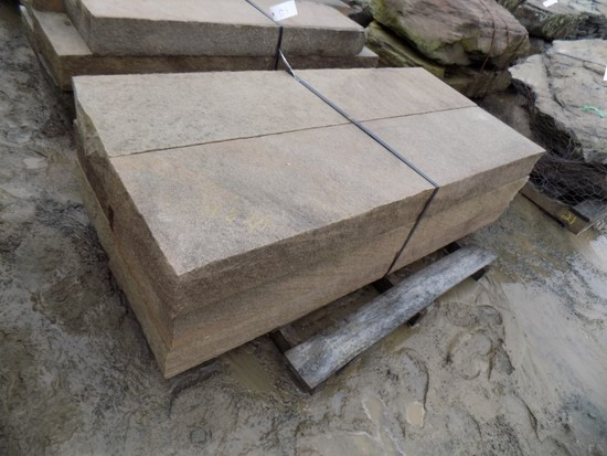 Pallet of (6) 6'' Thick x 16'' x 6' Cut Steps, Lilac/Bronze, 48 SF Sold by