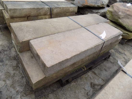 Pallet of (6) 6'' x 16'' x 5'-6' Cut Steps, Lilac/Bronze, 47 SF Sold by The