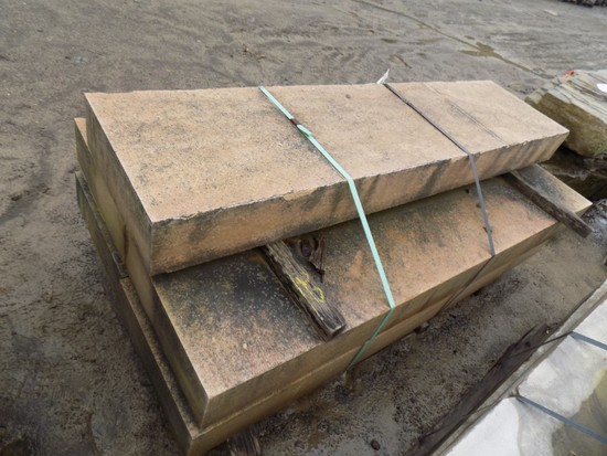 Pallet of (5) 6'' x 18'' x 6' Cut Steps, Lilac/Bronze, 45 SF Sold by The Pa
