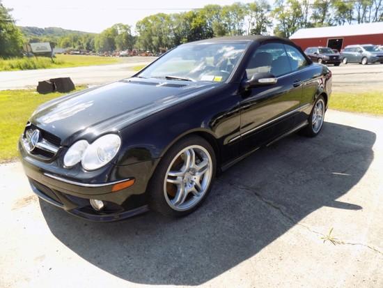 2009 Mercedes Benz CLK550A Convertible, 2Dr, 4 Seat, 5.5 V8, Auto Trans., S