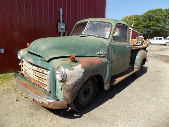 1949 GMC Green 2100 Original Inline 6 w/ 3 on The Tree, Runs and Drives, Ne