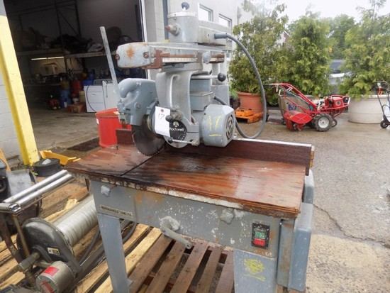 Rockwell Industrial Radial Arm Saw, Model 33-389