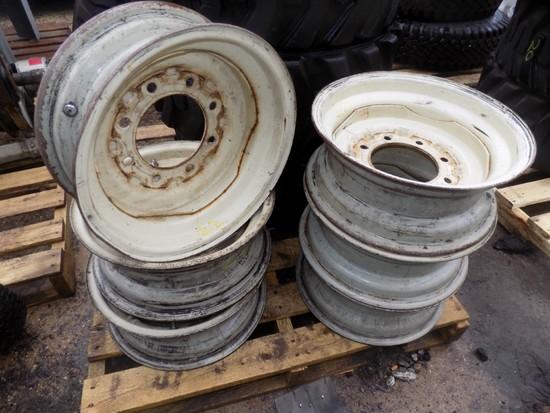 (6) 8-Lug 16'' Rims for Bobcat - for Truck Tires
