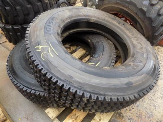 (2) New Goodyear 10R-22.5 Tires (2 x Bid Price)