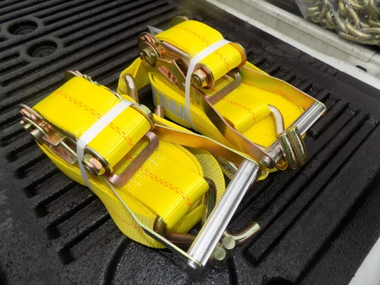 (2) New 10,000 Lb. 2'' Ratchet Straps (2 x Bid Price)