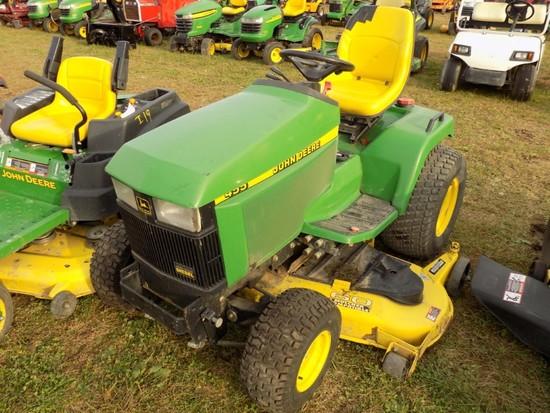 JD 455 Garden Tractor w/60'' Deck, Dsl, Hydro , Hyd. Lift,  s/n 091486, 160