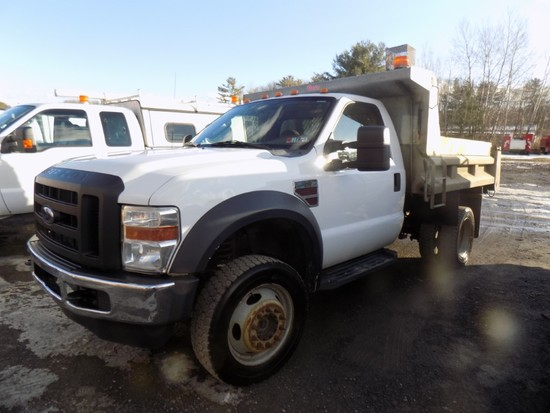 2008 Ford F550, 4WD, Dump Truck, 10' Rugby Galv. Body, Dsl. Eng., Auto Tran