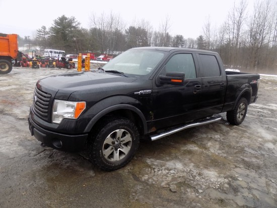 2011 Ford F150, Black, 4 Door Crew Cab, Automatic, 4WD, Sunroof, V8 Gas Eng