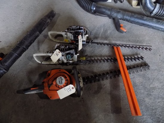 Stihl HS56C Gas Hedge Trimmer & 2 Parts Trimmers