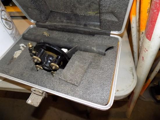 Sears & Roback Level w. Lazer Attachment, Tripod & Measuring Stick
