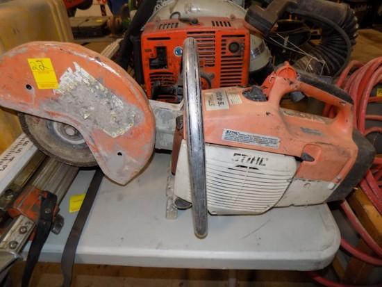 Stihl TS-400 Demo Saw Gas Engine