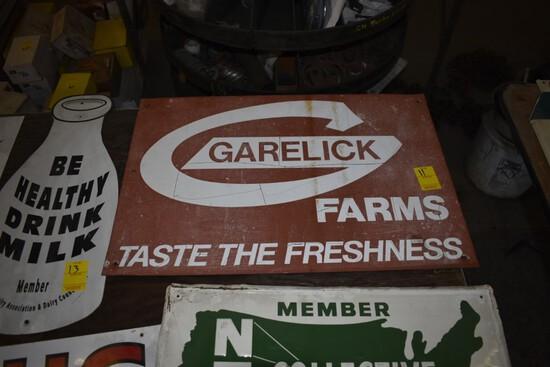 Garelick Farms Metal Sign, 24'' x 16''