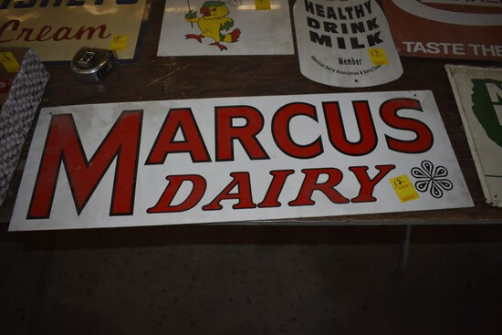 Marcus Dairy Metal Sign, 32'' x 11''