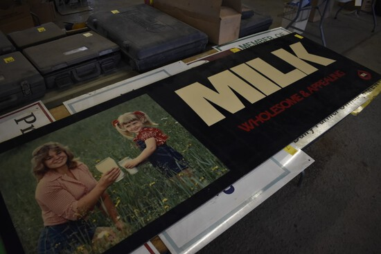 ''Milk'' Wholesale & Appealings Sign, Luan Board, 6' x 2'