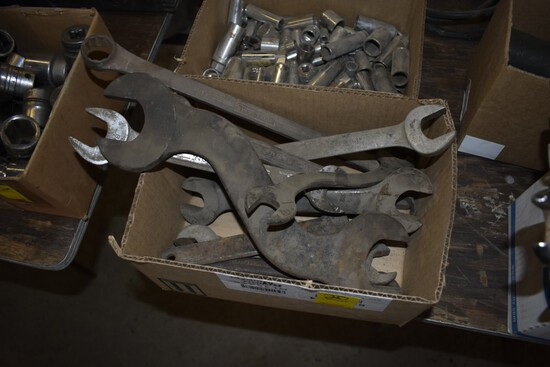 Box Of Older Specialty Wrenches