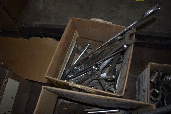 Box Of Open End Wrenches, Mostly SAE