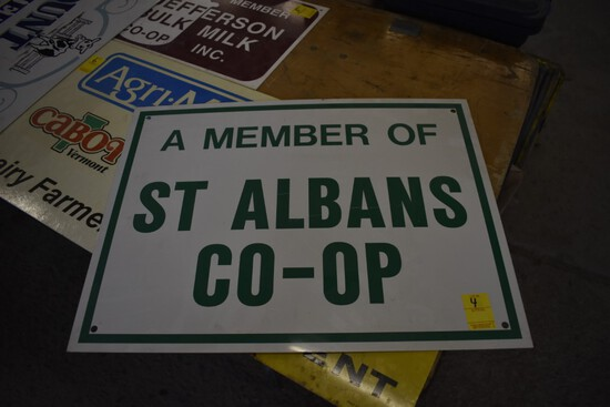 St. Albans Co-Op Metal Sign, 24'' x 18:
