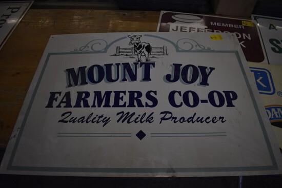 Mount Joy Farmers Co-Op Metal Double Sided Sign, 32'' x 24''