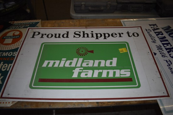 Mid Land Farms Metal Sign, 36'' x 24''