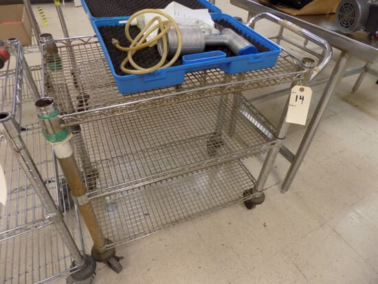 3-Tier Stainless Steel Rolling Cart