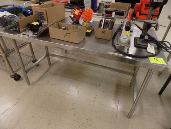 60''x30'' Stainless Steel Table, 34'' High